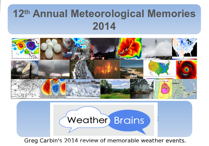 A recap of major weather in 2014 with Greg Carbin, WCM at the Storm Prediction Center, Norman, OK